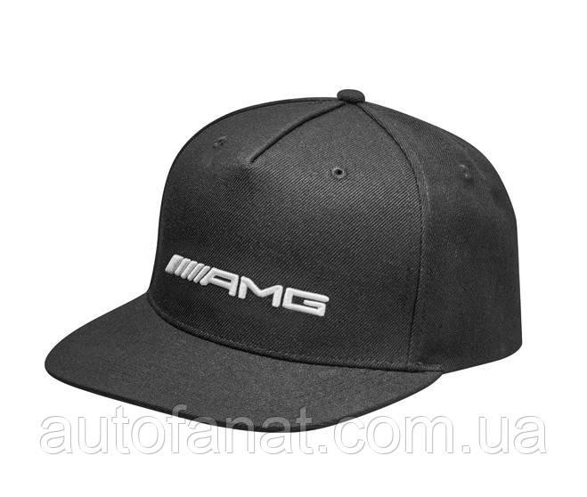 Оригинальная мужская бейсболка Mercedes-AMG Flat Brim Cap, Black  (B66954289)