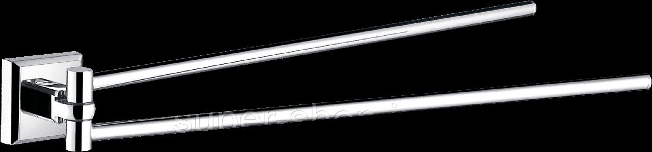 Тримач рушників подвійний динамічний латунний ріжки