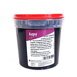 Крем для обуви Kaps Shoe Cream 500ml, чёрный