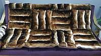 Плед на диван из меха Рекса