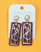 Сережки жіночі з перлинкою