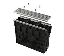 Пескоуловитель для дренажного канала AVZ103 с металлической рамой и оцинкованной решеткой С250