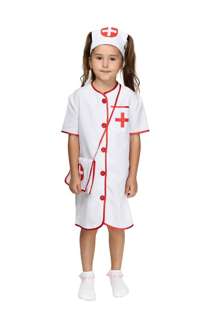 """Детский карнавальный костюм """"Медсестра"""" для девочки"""