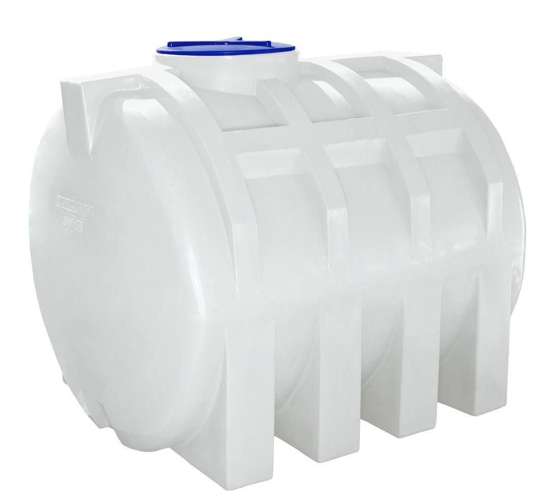 Бак, бочка 1500 литров емкость усиленная для транспортировки пищевая горизонтальная RGО