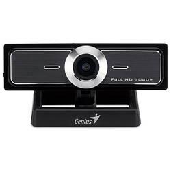 Веб-камера 2.0 Мп с микрофоном Genius WideCam F100 Full HD Black