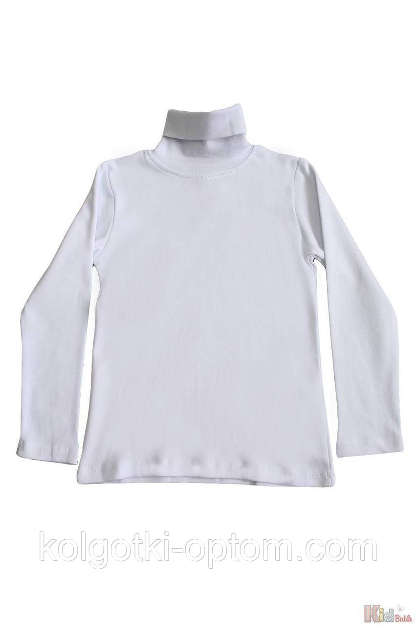 ОПТОМ Упаковка (134-140-146-152)  Гольф белый базовый для девочки-подростка Lovetti 1111000001146
