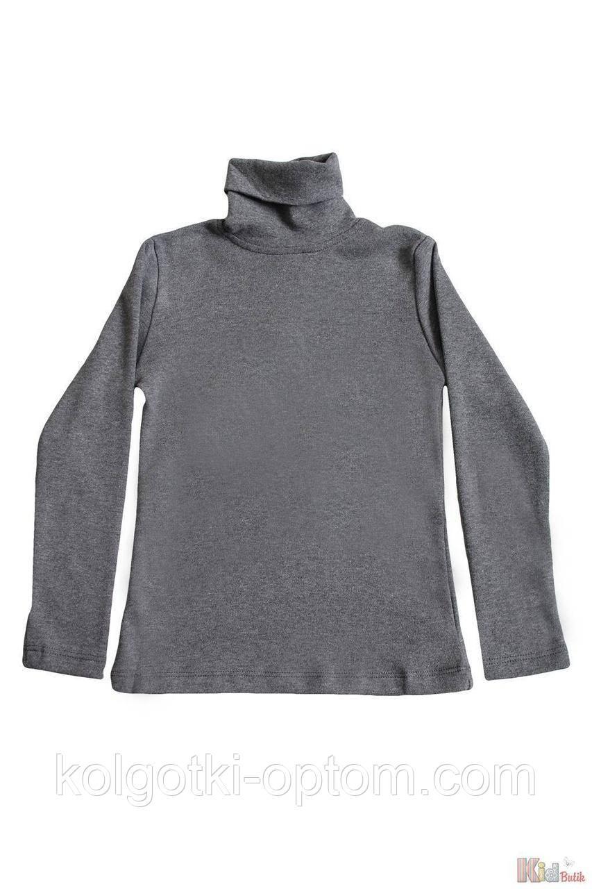 ОПТОМ Упаковка (110-116-122-128)  Гольф темно-серого цвета базовый для ребенка Lovetti 1111000001016