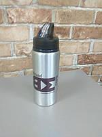 Сублімаційний друк на спортивній, металевій, сріблястій пляшці для води (600мл)