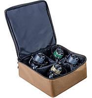 Сумка для катушек, Чехол для 4-х катушек, Чехол для катушек World4Carp REEL BOX Large 4 Coyote, фото 1