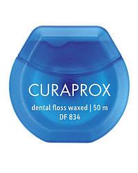 Нить межзубная вощеная с ароматом мяты Curaprox DF 834, 50 м