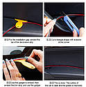 Декоративная молдинг - лента / полоса / нить / для тюнинга / стайлинга салона 5 метров СИНИЙ МЕТАЛЛИК, фото 7