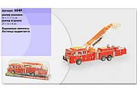 Пожарная машина инерционная 904p под слюдой 30*7*11 см