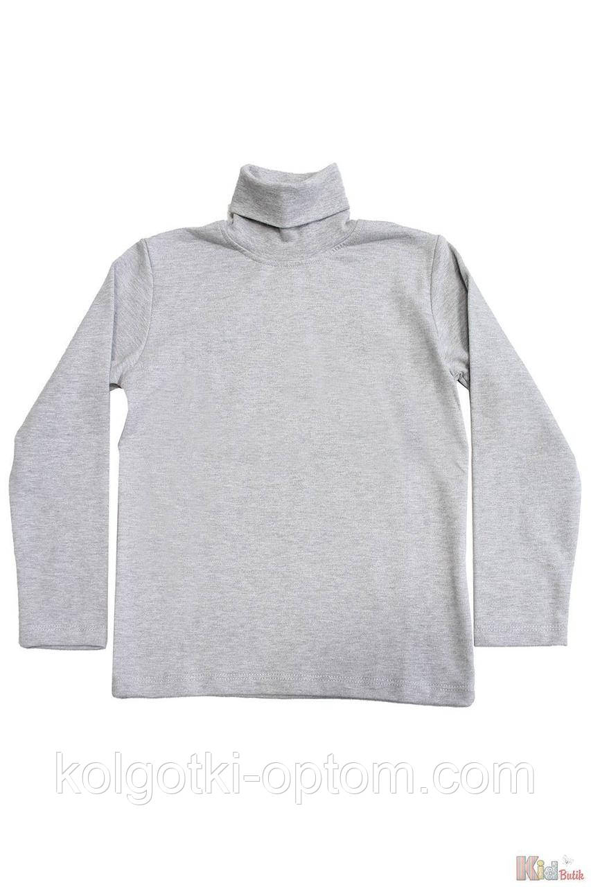 ОПТОМ Упаковка (110-116-122-128)  Гольф серого цвета базовый для ребенка Lovetti 1111000001009
