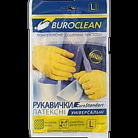 Перчатки господарські Buroclean, розмір L (латекс)