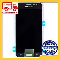 Дисплей (экран) Samsung J320 Galaxy J3 с сенсором (тачскрином) Черный Black оригинал