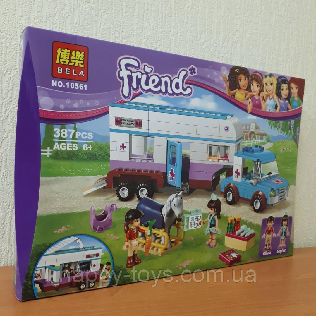 Конструктор Bela Friends 10561 Ветеринарная машина для лошадок 379 деталей