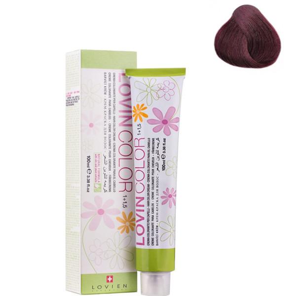 Стойкая крем-краска для волос Lovien Essential Lovin Color  №5.2 Фиолетовый 100 мл