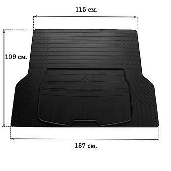 Гумовий килимок в багажник для UNI BOOT S (140см Х 80см) Stingray