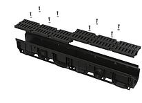 Дренажный канал 100 мм с пластиковой рамой и решеткой из композитного материала В125