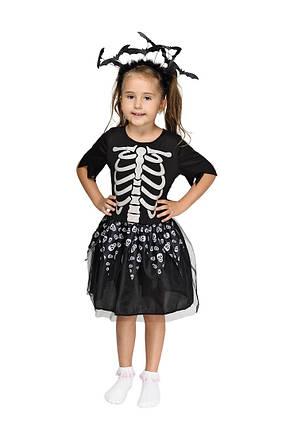 """Детский карнавальный костюм """"Скелет"""" для девочки, фото 2"""
