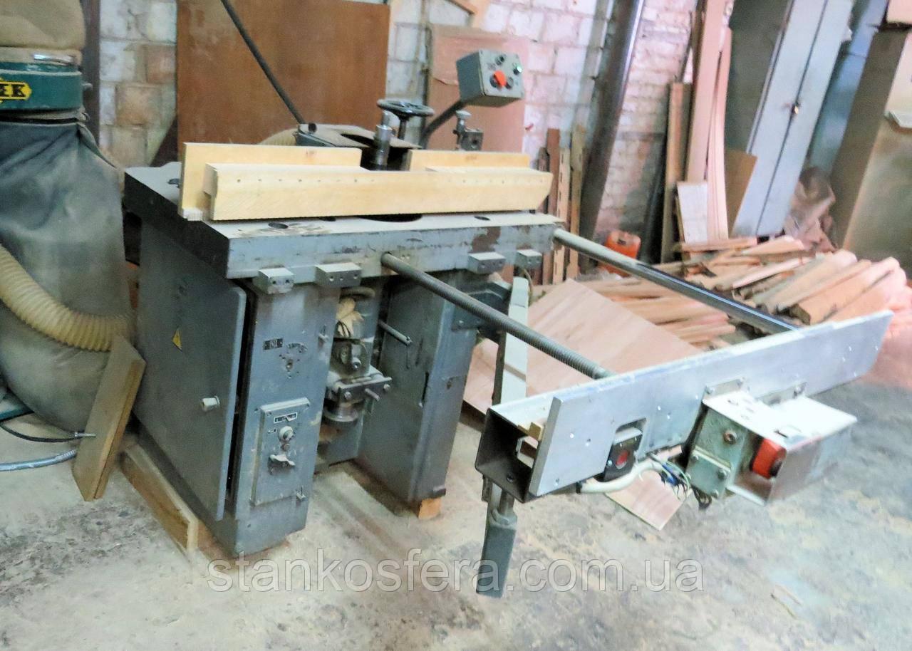 ФСШ-1А форматно-фрезерный станок бу с обратной базой для производства паркета или фасадов