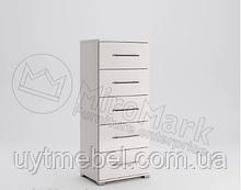 Комод Фемелі 5Ш глянець білий (Міромарк)