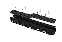 Дренажный канал 100 мм с пластиковой решеткой, класс A15