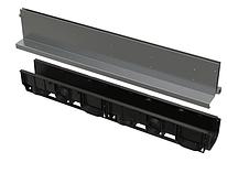 Щелевой дренажный канал 160 мм с симметричной надставкой из нержавеющей стали С250