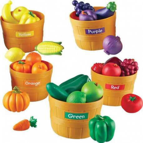"""Большой игровой набор """"Фрукты и овощи в ведерках"""" Learning Resources"""