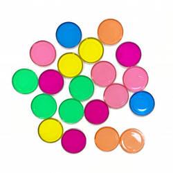 Кружечки-фішки для ігор та дослідів з магнітним жезлом (20 шт)