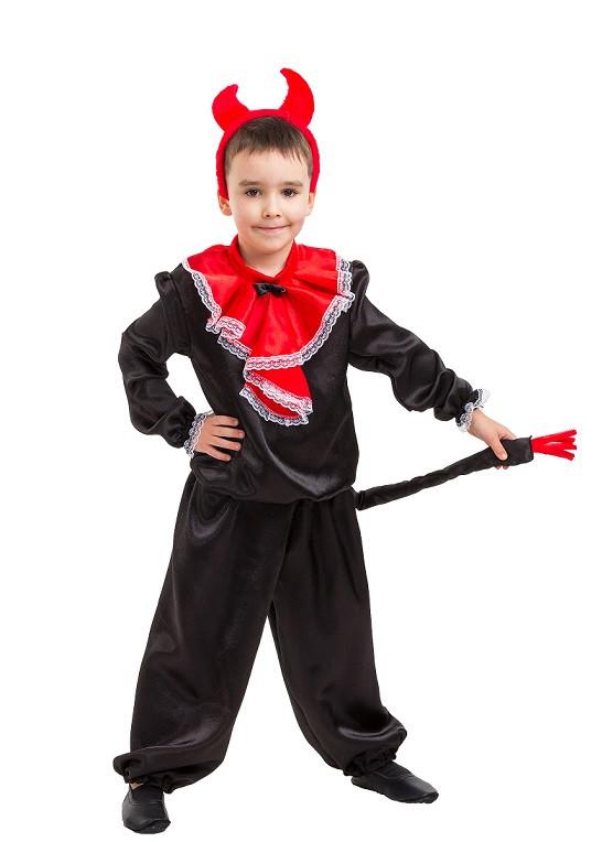 """Карнавальный детский сатиновый костюм """"Чёртик"""" для мальчика"""