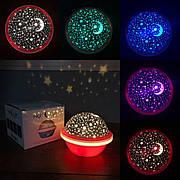 Детский ночник проектор Звездное Небо Star Light звездного неба для детей светильник планетарий розовый