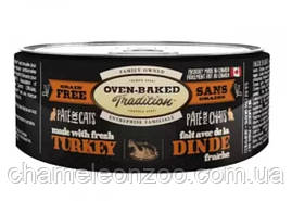 Консерва Oven-Baked Tradition Bio Biscuit полностью беззерновой паштет для котов из свежего мяса индейки 156 г