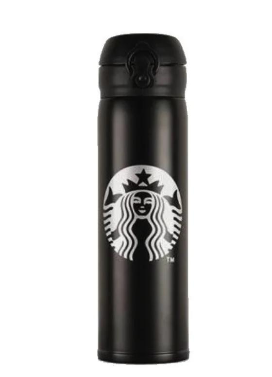 Термос Starbucks з поїлкою, чорний, 500 мл (KG-446)