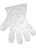 Перчатки одноразовые полиэтиленовые на планке HDPE 100 шт