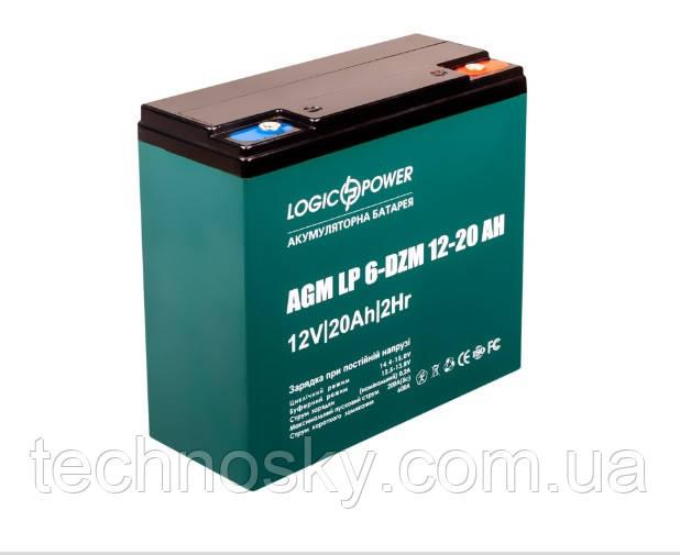 Тяговая аккумуляторная батарея LogicPower LP 6-DZM-20A (тяговый, мультигелевый, AGM)