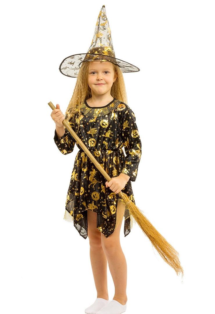 """Детский карнавальный костюм """"Ведьмочка"""" для девочки"""