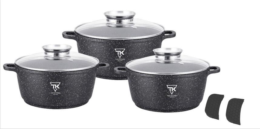 Набор Кастрюль Top Kitchen TK00021 из 3 предметов чёрный