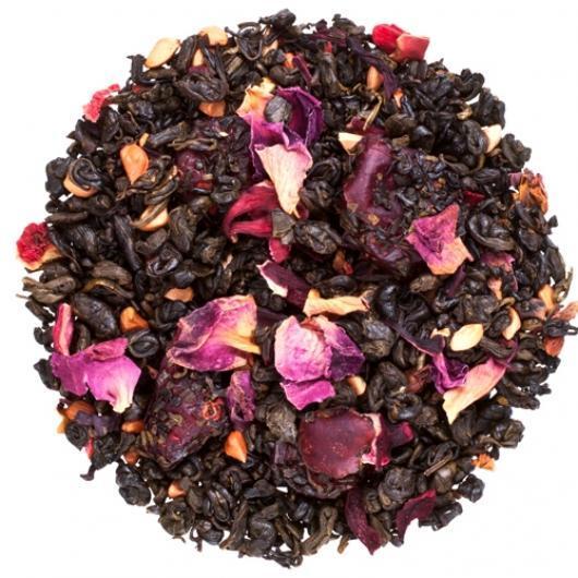 Чай зеленый Ароматизируваный  Гранатовый цветок Крупно листовой Tea Star 100 гр