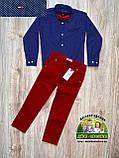 Бордовые брюки Armani для мальчика, фото 4