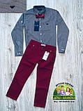 Бордовые брюки Armani для мальчика, фото 5