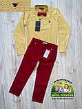 Бордовые брюки Armani для мальчика, фото 6