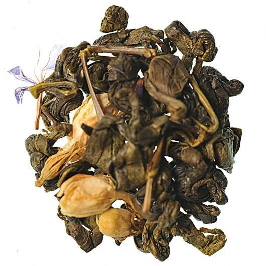 Китайский зеленый Чай  Зеленая Улитка с запахом молока крупно листовой Tea Star 50 гр