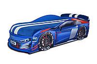 Кровать машина Ауди Турбо синяя, фото 1