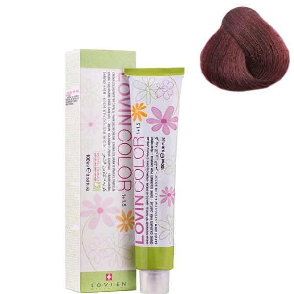 Стойкая крем-краска для волос Lovien Essential Lovin Color №4.6 Темно-алый красный 100 мл