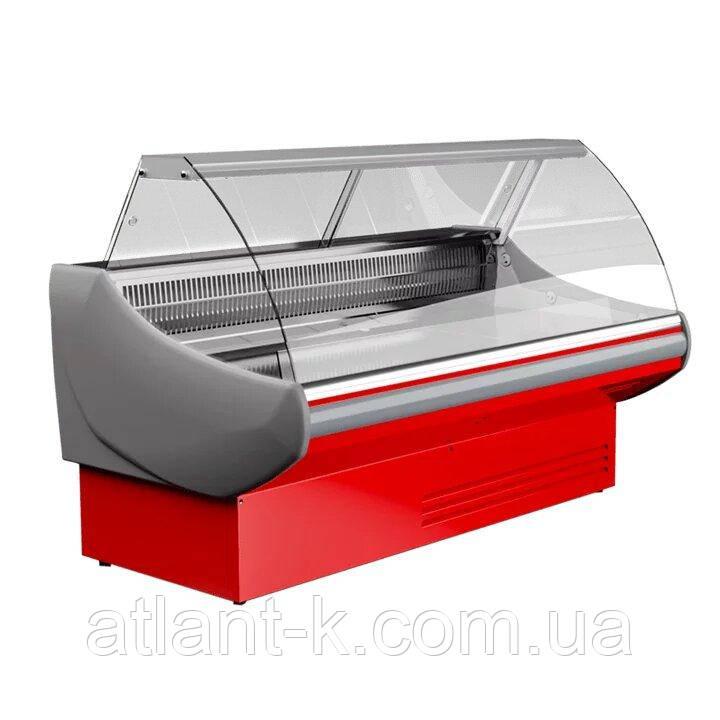 Витрина холодильная JUKA SGL 160 (-2..+5) среднетемпературная, Выкладка 740 мм