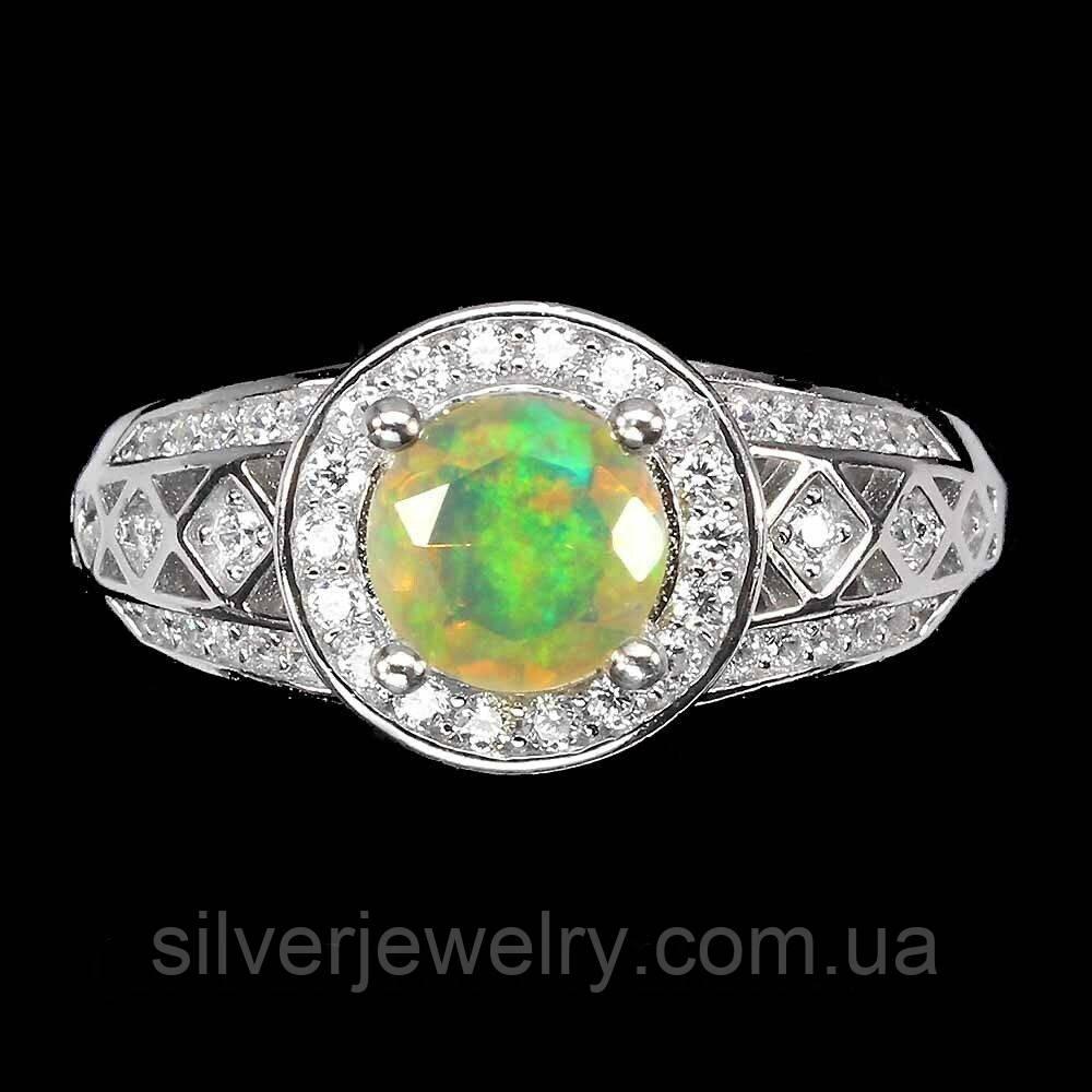 Серебряное кольцо с ОПАЛОМ  (натуральный!!!), серебро 925 пр. Размер 17