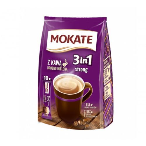 Напиток Кофейный Растворимый Mokate Крепкий 3в1» сумка 17г/1шт сш/п (1уп/10шт)