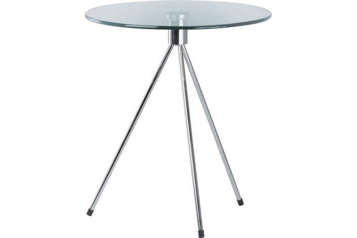 Стол журнальный Три, стеклянный, диаметр 50 см