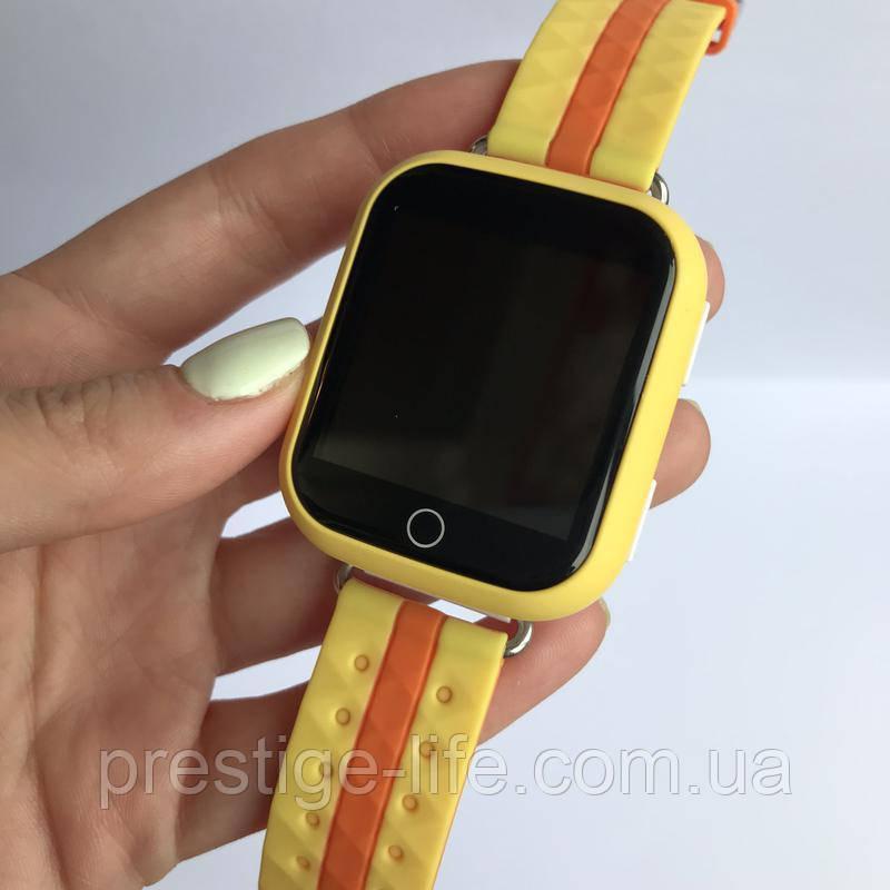 Смарт-часы с GPS, Wi-Fi, Smart Baby Watch Q100 цвет Оранжевый